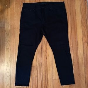 Men's Uniqlo cropped tapered leg jeans pants sz 36